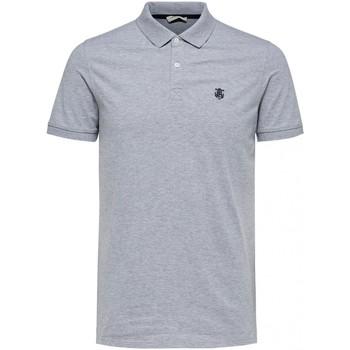 Vêtements Homme Polos manches courtes Selected Polo manches courtes Taille : H Gris S Gris