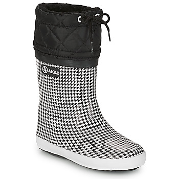 Chaussures Fille Bottes de neige Aigle GIBOULEE PRINT Noir / Blanc