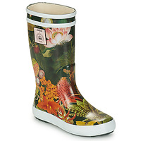 Chaussures Fille Bottes de pluie Aigle LOLLY POP KID Vert / Multicolore