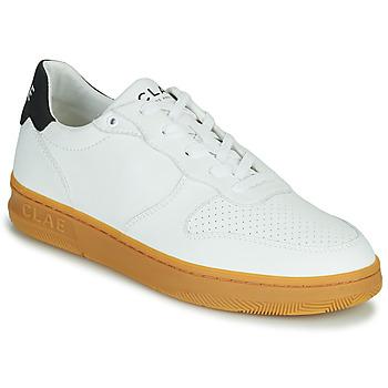 Chaussures Homme Baskets basses Clae MALONE VEGAN Blanc / Bleu