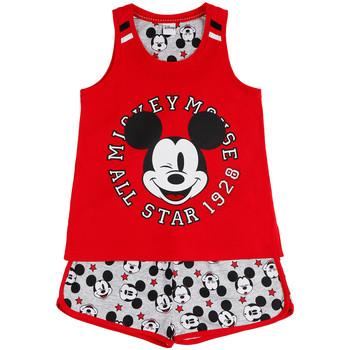 Vêtements Fille Pyjamas / Chemises de nuit Admas Pyjama fille short débardeur Mickey All Stars Disney rouge Rouge