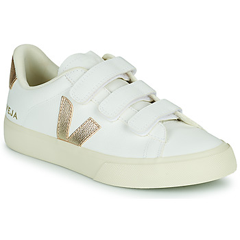 Chaussures Femme Baskets basses Veja RECIFE LOGO Blanc / Doré