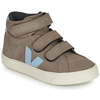 Chaussures Enfant Baskets montantes Veja SMALL ESPLAR MID Gris / Bleu