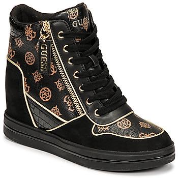 Chaussures Femme Baskets montantes Guess NANGY Noir