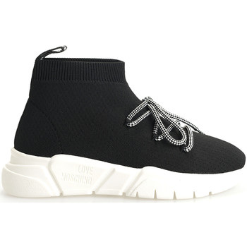 Chaussures Femme Baskets montantes Love Moschino  Noir