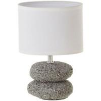 Maison & Déco Lampes à poser Zen Et Ethnique Lampe galet gris en céramique 24 cm Gris