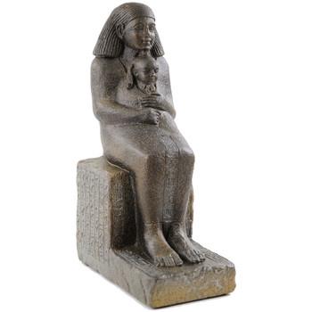 Maison & Déco Statuettes et figurines Zen Et Ethnique Statue Égyptienne Senenmout avec la Princesse Marron
