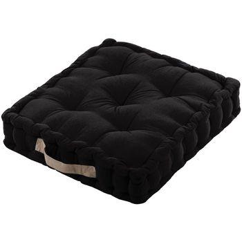 Maison & Déco Coussins Retro Noir - Epais coussin de sol en coton 45 cm Noir