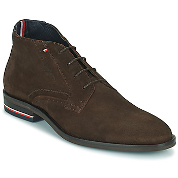 Chaussures Homme Boots Tommy Hilfiger SIGNATURE HILFIGER SUEDE BOOT Marron