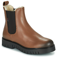 Chaussures Femme Boots Tommy Jeans WARMLINED CHELSEA BOOT Cognac