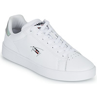 Chaussures Femme Baskets basses Tommy Jeans IRIDECENT DETAIL CUPSOLE Blanc