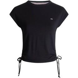 Vêtements Femme T-shirts manches courtes Tommy Jeans T-shirt Tommys Jeans ref 52139 BDS noir Noir