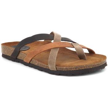 Chaussures Femme Claquettes Interbios 7113 Marron