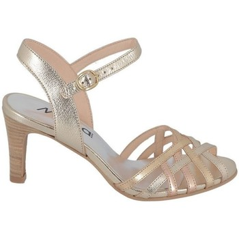 Chaussures Femme Sandales et Nu-pieds Myma Sandale à Talon Brides Fines Croisées Bronze