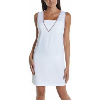 Vêtements Femme Robes courtes Selmark Robe estivale sans manches Marinera Jacquard  Mare Blanc
