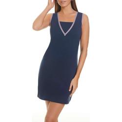 Vêtements Femme Robes courtes Selmark Robe estivale sans manches Marinera Jacquard  Mare Bleu Marine