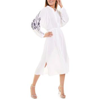 Vêtements Femme Robes longues Selmark Robe estivale mi-longue manches longues blanc  Mare Blanc