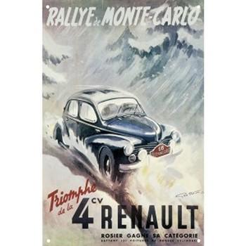 Maison & Déco Affiches, posters Renault Affiche Rallye de Monté Carlo 50 x 70 cm Gris