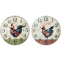 Maison & Déco Horloges Signes Grimalt Gallo Horloge Murale Mis 2U Multicolor
