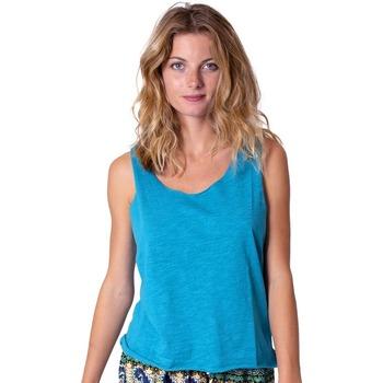 Vêtements Femme Tops / Blouses Coton Du Monde Maeline Turquoise