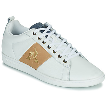 Chaussures Homme Baskets basses Le Coq Sportif COURTCLASSIC Blanc / Tan