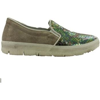 Chaussures Femme Mocassins Khrio  GRIS