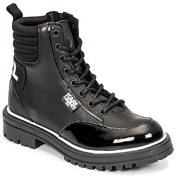 Chaussures Fille Bottes ville Karl Lagerfeld HOLISTA Noir