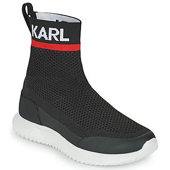 Chaussures Garçon Baskets montantes Karl Lagerfeld PELINDRA Noir