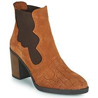 Chaussures Femme Bottines Elue par nous KOISSON Camel
