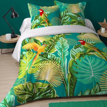 Maison & Déco Parures de lit Le Monde Des Animaux Parure de lit CHILOE 220 x 240 cm Vert