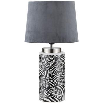Maison & Déco Lampes à poser Le Monde Des Animaux Grande Lampe de table Zèbre noire et Blanche Noir