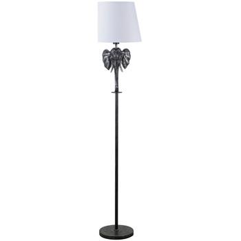 Maison & Déco Lampes à poser Le Monde Des Animaux Lampe sur pied Éléphant Argent et Noir Noir