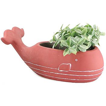 Maison & Déco Vases, caches pots d'intérieur Le Monde Des Animaux Cache Pot de fleurs - Baleine Rouge
