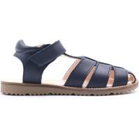 Chaussures Garçon Sandales et Nu-pieds Boni & Sidonie Sandales en cuir à scratch - AZUR Bleu Marine