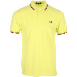 Vêtements Homme Polos manches courtes Fred Perry Twin Tipped Shirt jaune