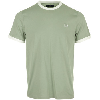 Vêtements Homme T-shirts manches courtes Fred Perry Ringer T-Shirt vert