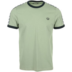 Vêtements Homme T-shirts manches courtes Fred Perry Taped Ringer T-Shirt vert