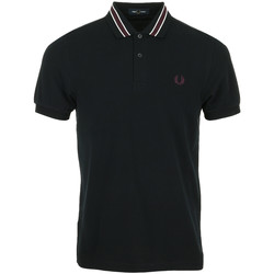 Vêtements Homme Polos manches courtes Fred Perry Tramline Tipped Polo Shirt bleu