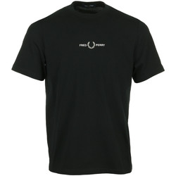 Vêtements Homme T-shirts manches courtes Fred Perry Embroidered T-Shirt noir