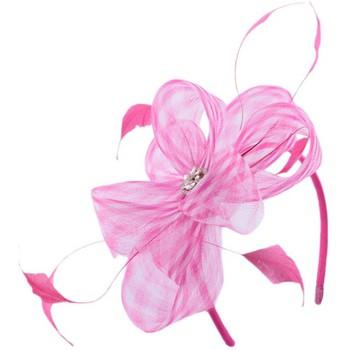 Accessoires textile Femme Chapeaux Léon Montane Serre tête Cérémonie Circée Rose et blanc Rose
