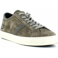 Chaussures Baskets mode Date D.A.T.E. Sneakers Madame Suède blanc