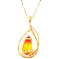 Montres & Bijoux Femme Colliers / Sautoirs Andrea Marazzini Collier  doré Elegant Fire Opal Jaune