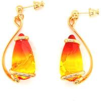Montres & Bijoux Femme Boucles d'oreilles Andrea Marazzini Boucles  dorées Elegant Fire Opal Jaune