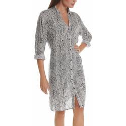 Vêtements Femme Robes Selmark Robe de plage manches trois-quarts Cebras noir  Mare Noir