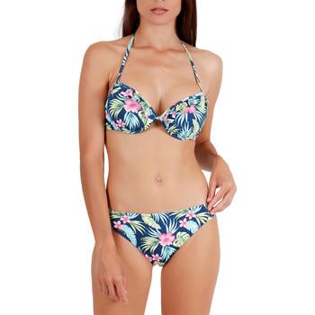 Vêtements Femme Maillots de bain 2 pièces Admas Ensemble 2 pièces bikini push-up Hawaii Bleu Marine