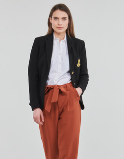 Vêtements Femme Vestes / Blazers Lauren Ralph Lauren ANFISA-LINED-JACKET Noir