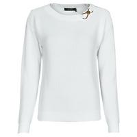 Vêtements Femme Pulls Lauren Ralph Lauren YAMINAH-LONG SLEEVE-SWEATER Blanc