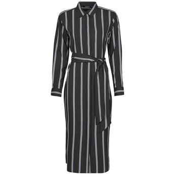 Vêtements Femme Robes longues Lauren Ralph Lauren RYNETTA-LONG SLEEVE-CASUAL DRESS Noir