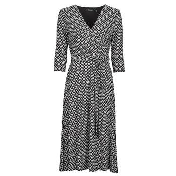 Vêtements Femme Robes longues Button-trim Crepe Dress CARLYNA-3/4 SLEEVE-DAY DRESS Noir