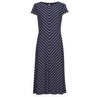 Vêtements Femme Robes longues Lauren Ralph Lauren PIPPA-CAP SLEEVE-DAY DRESS Bleu